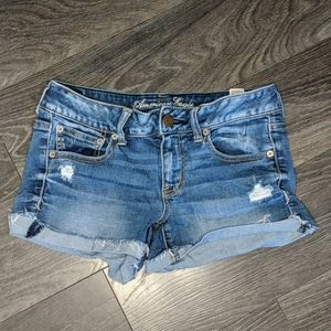 American Eagle Distressed Jean Shorts Size 8